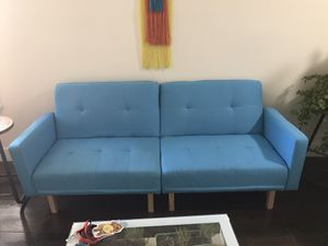 Blue (Turquoise) couch- almost brand new for Sale in Oakland, CA