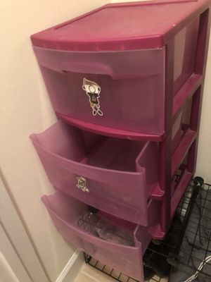 Pink 3-drawer storage container! for Sale in Bristow, VA