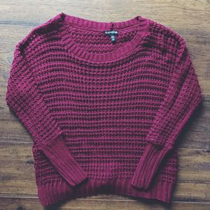Burgundy Knitted Express Sweater for Sale in Pittsburgh, PA