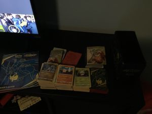 Pokemon collection cards,sleeves,elite case box,pokemon book for Sale in Orlando, FL