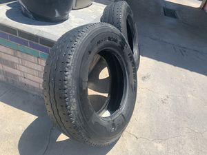 """22.5"""" Truck Trailer Tires Tire Used Virgin Regroovable Good Tread 295/75R22.5 for Sale in Haltom City, TX"""