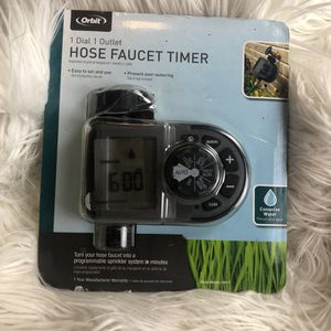 Orbit 1 dial 1 outlet hose faucet timer for Sale in Parma, OH