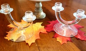 Antique candelabra glass candle holders for Sale in Edmonds, WA