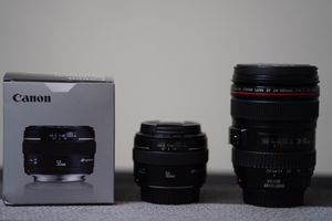 Canon lenses 24-105mmf4 50mmf1.4 for Sale in Oakland, CA