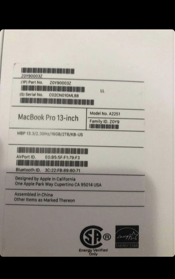 MacBook Pro2020