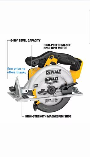 DEWALT DCS391B 20-Volt MAX Li-Ion Circular Saw Powerful&Lightweight Tool Only for Sale in Kettering, MD