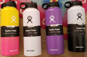 Hydro Flask Wide Mouth Water Bottle or Straw Lid (Pro Grade Stainless Steel) - 40 Oz -Variety Of Colors Of Your Choice for Sale in Santa Ana, CA