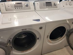 Lg front load washer and electric dryer set used in good condition with 90 day warranty for Sale in Mount Rainier, MD
