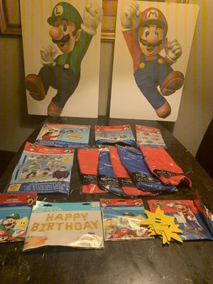 Mario bros party for Sale in Stockton, CA