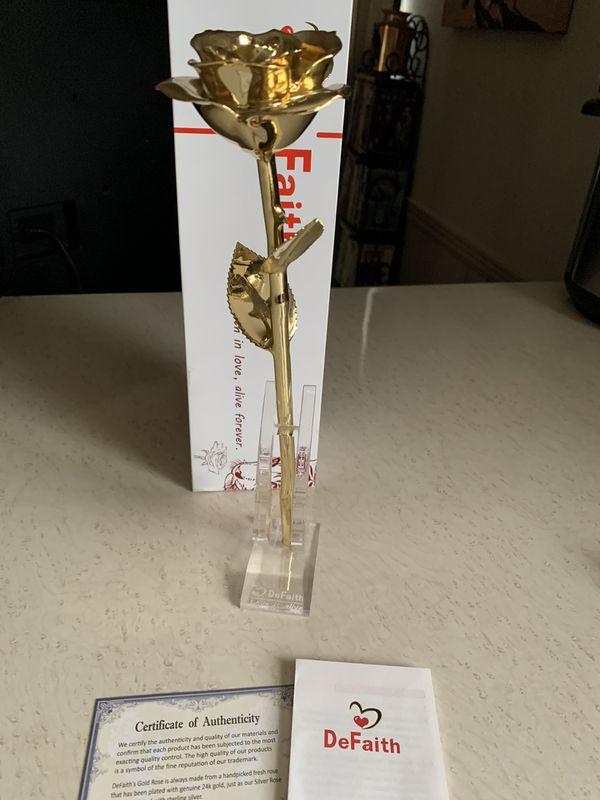 DeFaith 24k Gold Rose