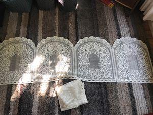 Beautiful lace window valence (set of 2) for Sale in Kirkland, WA