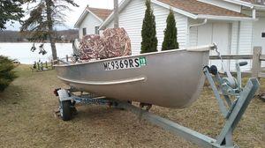 14 ft Meyers Aluminum Boat & Honda 9.9hp 4 stroke Motor With Karavan Trailer for Sale in Brooklyn, MI