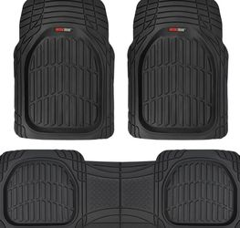 Motor Trend 923-BK Black FlexTough Contour Liners-Deep Dish Heavy Duty Rubber Floor Mats for Car SUV Truck & Van-All Weather Protection, Universal Tri for Sale in Arlington,  VA