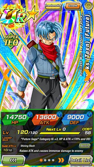 Dokkan battle account with NEW TEQ TRUNKS for Sale in Phoenix, AZ