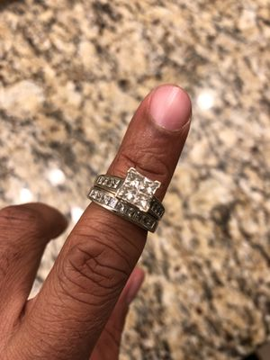 2CT Diamond wedding band and engagement ring for Sale in La Plata, MD