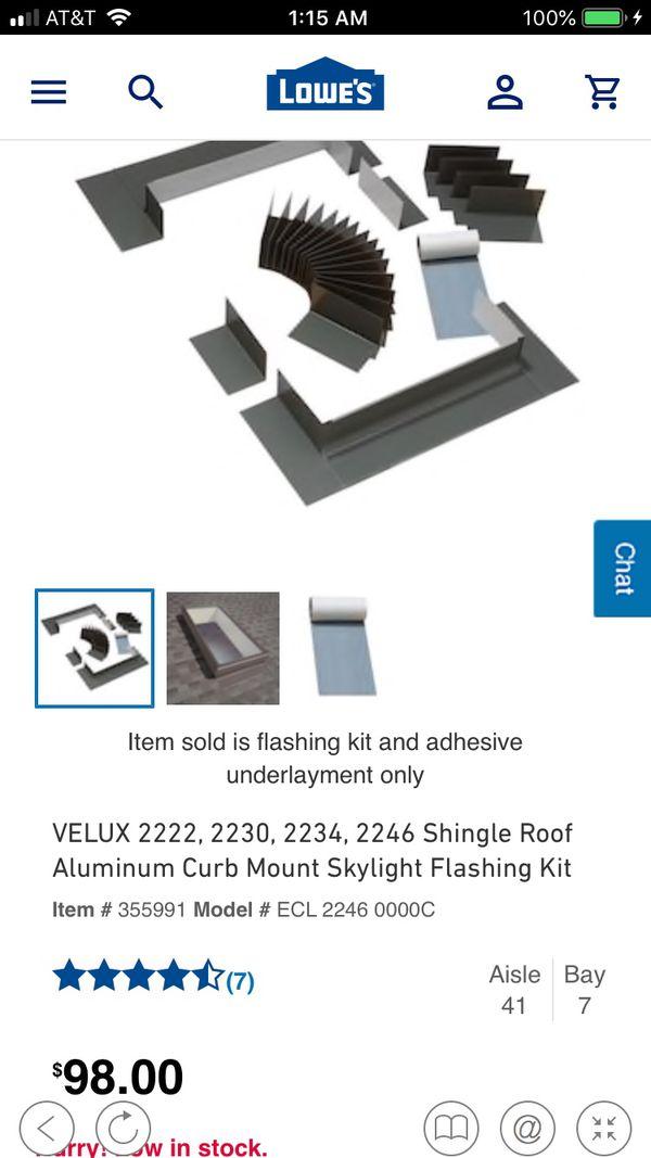 VELUX Curb Mount Skylight Flashing Kit ECL 2246