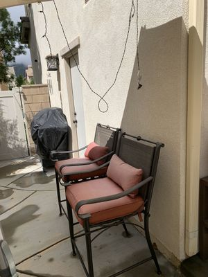 Coffee table with glass top and matching side table, outdoor furniture for Sale in Temecula, CA