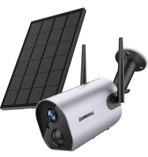 Zumimall Wireless Outdoor Security WiFi Camera, Solar Powered Rechargeable Battery Surveillance Camera, 1080P Home Security Camera, Night Vision for Sale in Milpitas, CA