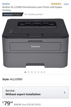 Brother HL-L2300D Monochrome Laser Printer with New Cartridge for Sale in Houston, TX