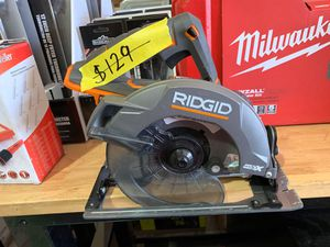 RIDGID 18-Volt GEN5X Cordless 7-1/4 in. Circular Saw (Tool Only) with Blade and Blade Wrench for Sale in Phoenix, AZ