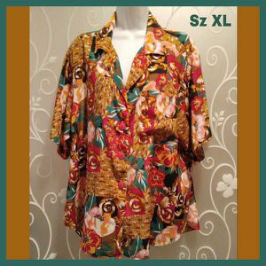 WOMENS MULTI COLOR FLORAL SHORT SLEEVE TOP SIZE XL for Sale in Ontario, CA