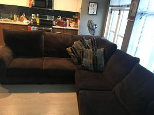 Large brown sectional couch for Sale in Rockville, MD