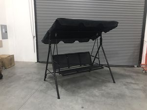 New in box 528 lbs capacity porch swing bench chair with canopy sun shade for Sale in Whittier, CA