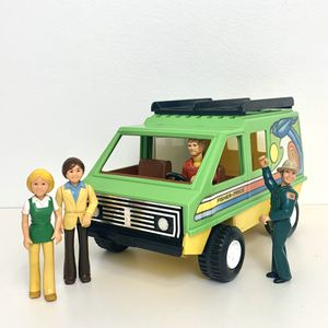 Vintage 1977 Fisher Price Adventure People 318 Daredevil Green Sports Van and 4 Characters for Sale in Elizabethtown, PA