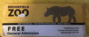 Admission for Brookfield zoo for Sale in Chicago, IL