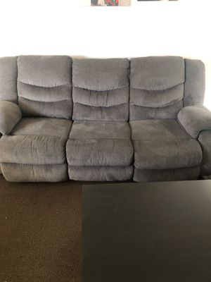 Grey reclining couches for Sale in Whittier, CA