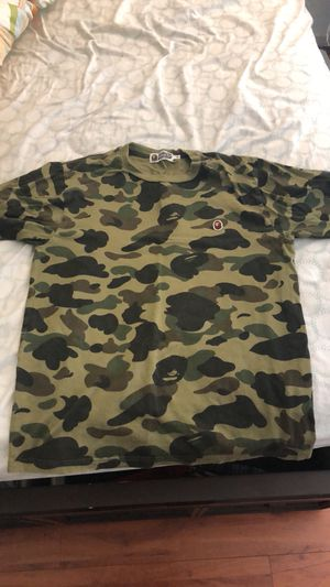 BAPE BASEBALL TEE SZ M 100% AUTHENTIC A BATHING APE for Sale in Castro Valley, CA
