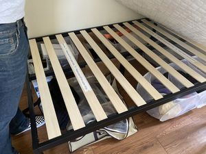 Tall bed frame full size for Sale in Los Angeles, CA