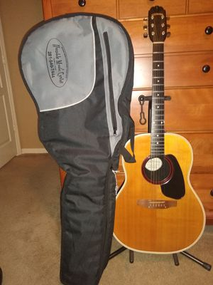 Round Sounds are 76-'81 Applause AA14-4 Acoustic plasti-cord deep-bowl Guitar. miUS & thick backpacker gig bag & a stand & picks VGC for Sale in Spring, TX