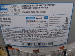 America water heater company for Sale in Houston, TX
