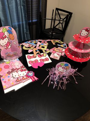 Hello kitty party decors for Sale in Columbus, OH