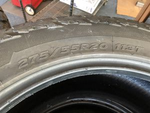 Hankook Dynapro AT M. Four good used tires, 275/55/20 for Sale in Streator, IL