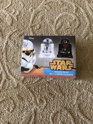 Unopened R2D2 and R2Q5 Salt and Pepper Shakers for Sale in St. Louis, MO