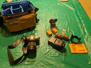 Pentax ZX-10 camera with large flash kit for Sale in St. Louis, MO