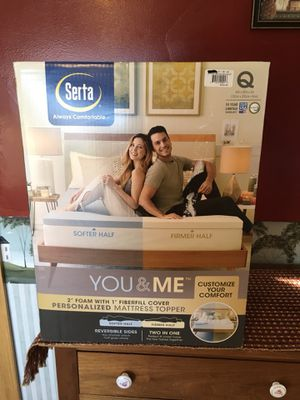 New Serta Personalized Queen Mattress Topper for Sale in Waldo, OH