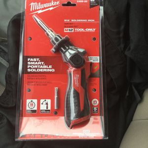 M12 12-Volt Lithium-Ion Cordless Soldering Iron with Soldering Iron Chisel Tip - Brand New! for Sale in Portland, OR