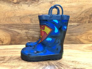 Wester Chief Kids D.C. Comics Superman rain boots Size 10 children (US) for Sale in OR, US