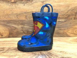 Wester Chief Kids D.C. Comics Superman rain boots Size 10 children (US) for Sale in Beaverton, OR