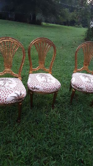Hollywood Regency gold built chairs antique for Sale in Roxboro, NC
