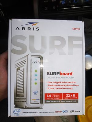 ARRIS SURFboard SB6190 DOCSIS 3.0 Cable Modem, Approved for Cox, Spectrum, Xfinity & others BRAND NEW SEALED! for Sale in Los Angeles, CA