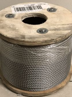 "1/4 ""x 200 FT 7x19 Stainless Steel Aircraft Galvanized Cable Reel for Sale in Pico Rivera,  CA"
