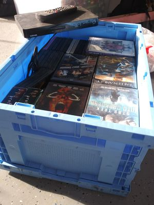 Toshiba Bluray dvd player. And a box of dvds. for Sale in New Port Richey, FL