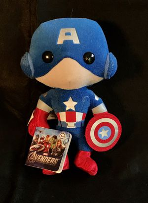 Funko Marvel Plushies Captain America Doll With Original Tag for Sale in Lauderhill, FL