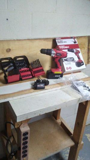 Hyper tough 18 volt drill and bits for Sale in Winchester, VA