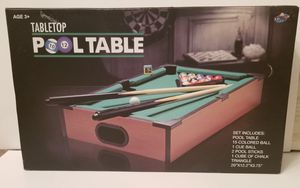 """20"""" Mini Table Top Pool Table Game Billiard Set Cues Balls Gift Indoor Sports US for Sale in Milton, PA"""