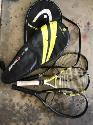 Tennis Rackets with cases for Sale in Bakersfield, CA